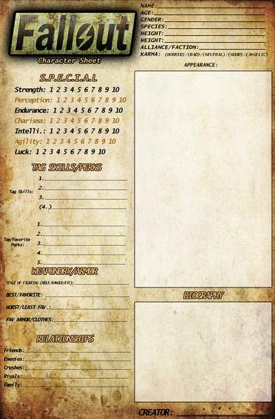 Fallout New Vegas Character Sheet Oc Meme Old By Darthsuki On Deviantart