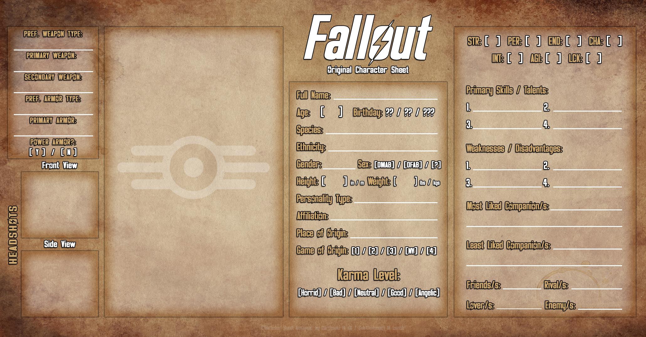 Fallout OC Meme 2.0 (Grunge Paper Ver.) by DarthSuki