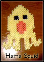 Hama Beads Squid by Freaky-Shadow