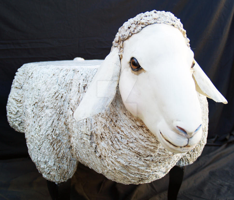 Hand Crafted Sheep Table   Papier Mache Sculpture By KarenCullie ...