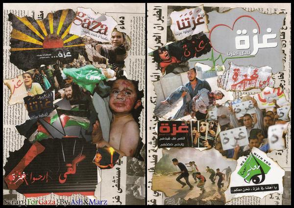 Hand made scrap for Gaza by iAiisha