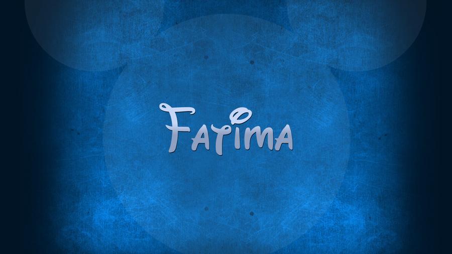 خلفية باسم فاطمة Fatima