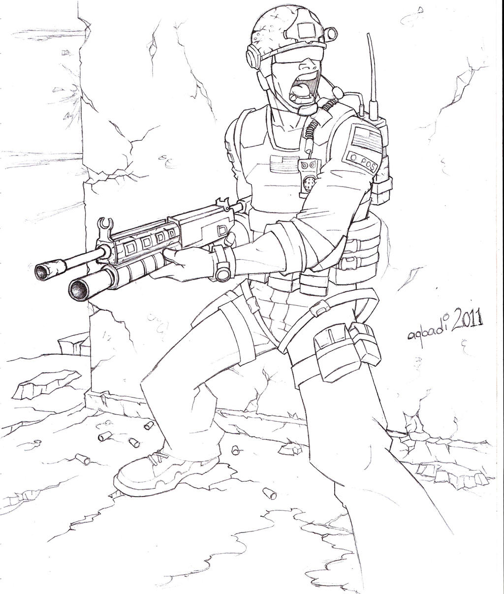 Call of duty modernwarfare 3 by mohammedagbadi on deviantart for Call of duty coloring page