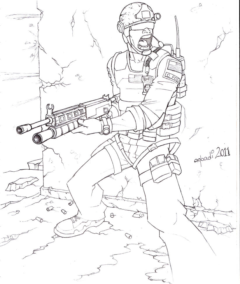 call of duty coloring pages - call of duty modernwarfare 3 by mohammedagbadi on deviantart