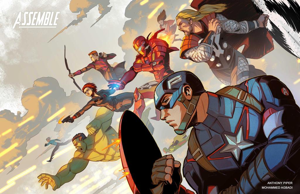 Avengers Print by mohammedAgbadi