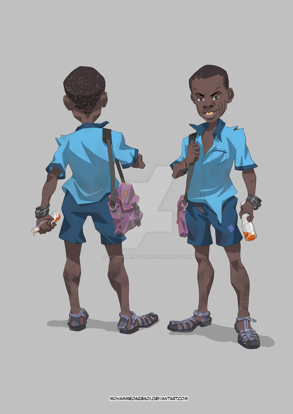Character Design Little Boy : The yoruba boy character design by mohammedagbadi on