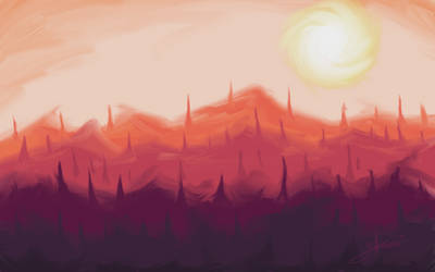 Mountains of towers by YeraldReloaded