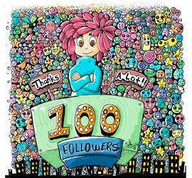 100 followers on instagram by YeraldReloaded