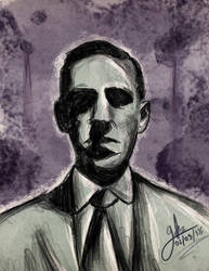 H.P. Lovecraft by YeraldReloaded