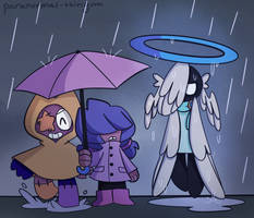 vega just get under the umbrella its not that hard by paranormal-thingum