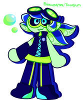 my one splatoon oc thats actually an inkling??? by paranormal-thingum