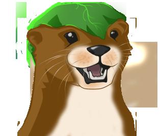 Oti the Otter - Head Shot by OneBadPanda
