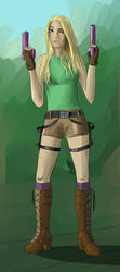 My friend as Lara Croft by Wulfy88