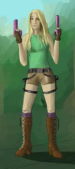 My friend as Lara Croft
