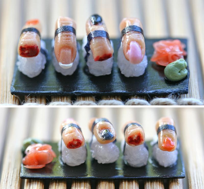 Finger Sushi by szekei