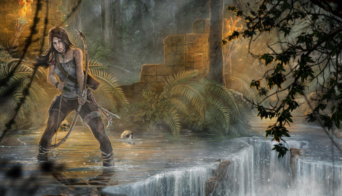 Lara Croft - Tracking the enemy by One-Alucard