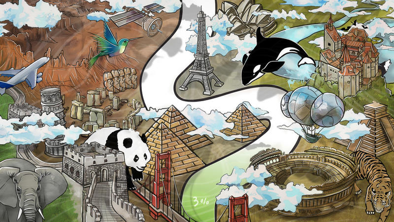 Around the World by AuraUnity