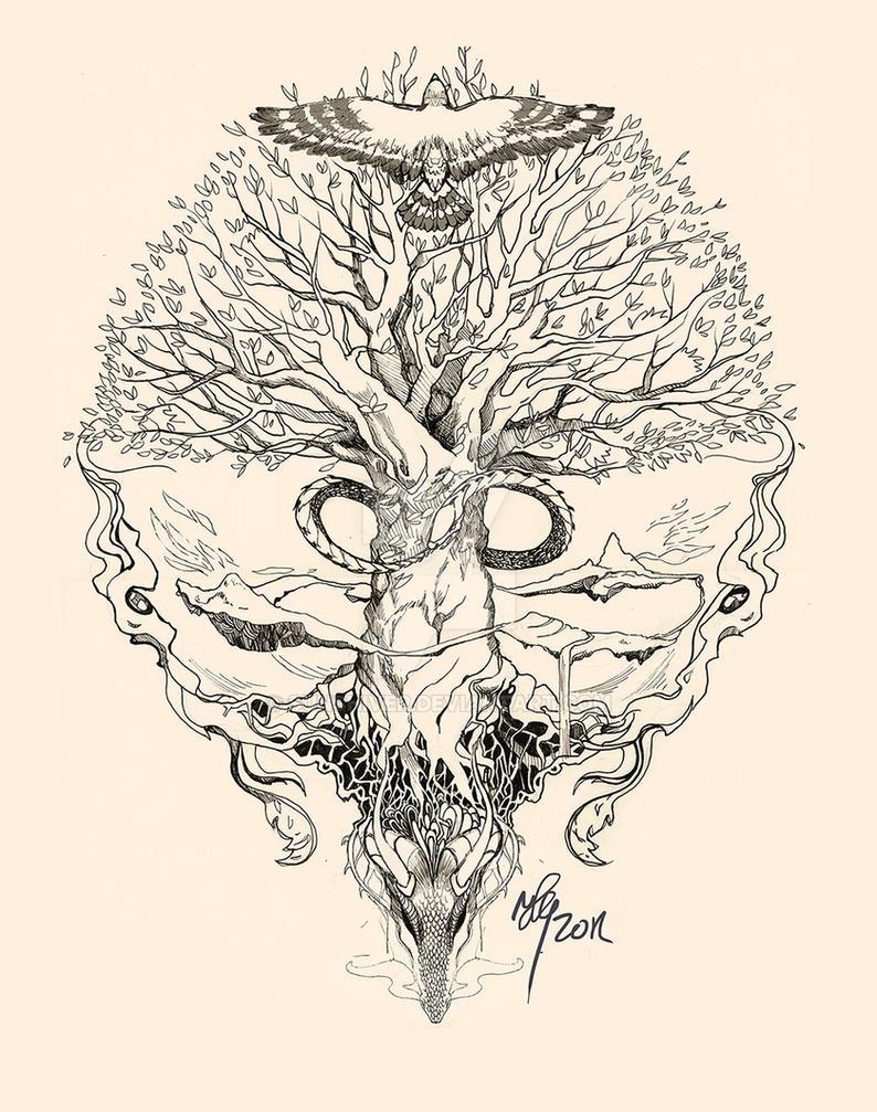 Yggdrasil Uroboros By Sunshiver On DeviantArt