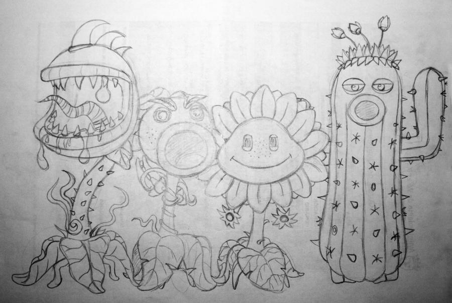 Garden Warfare Plants Sketch By Nina06