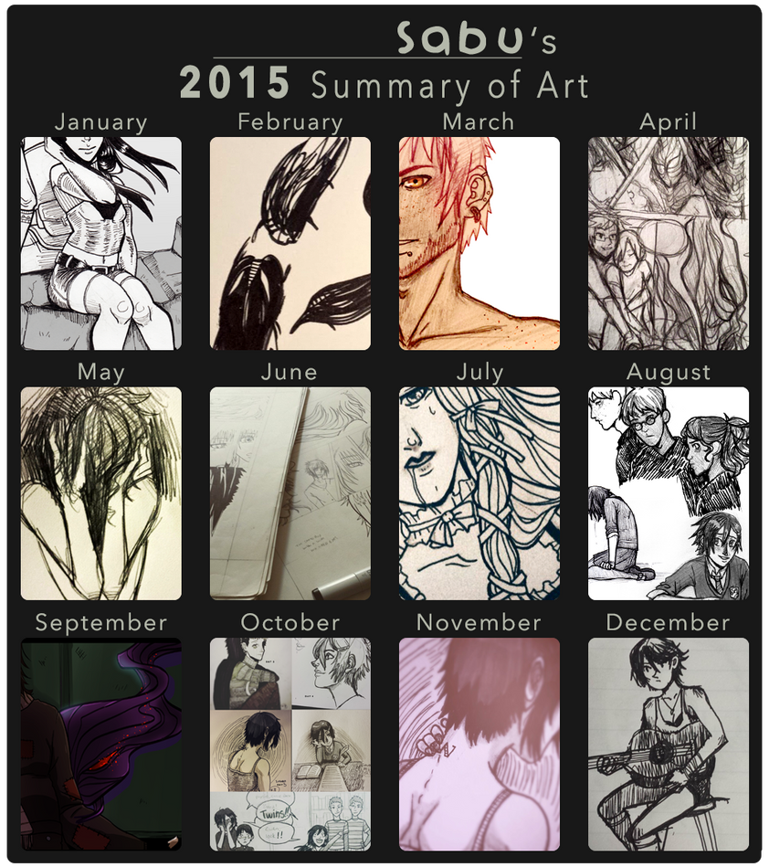 2015 Summary of Art by Sabubu