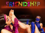 Mileena and Kitana Feet Friendship by RandomUserAgain2016