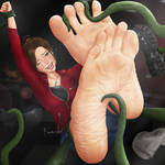Claire Redfield feet torture (commission)