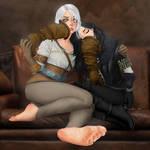 Ciri's feet are too powerful (commission) by RandomUserAgain2016