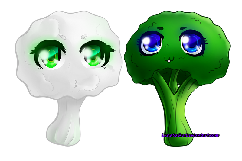 And suddenly: Cute vegetables by LunaSaiko