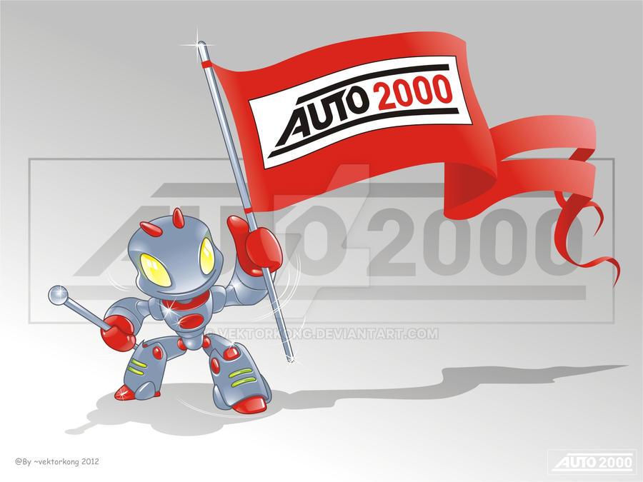 Auto 2000 Mascot by vektorkong