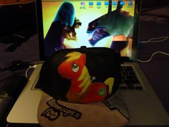 BigMac MLP FiM hand painted hat by IzzaHart