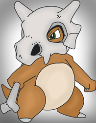 Cubone Drawing by MrSouthBay