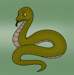 Simple Snake Drawing by MrSouthBay