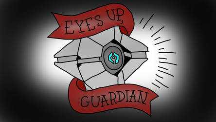 Eyes Up Guardian Destiny Ghost Drawing by MrSouthBay