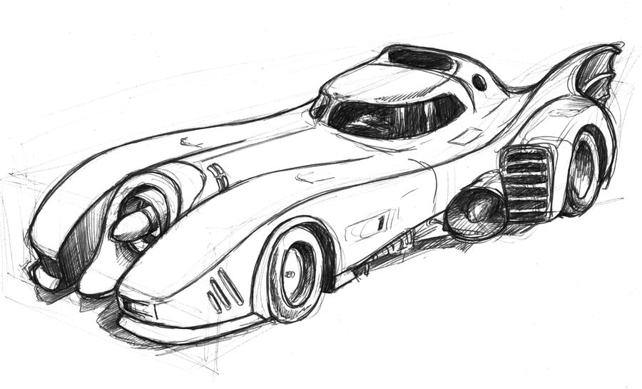 How To Draw The Batmobile