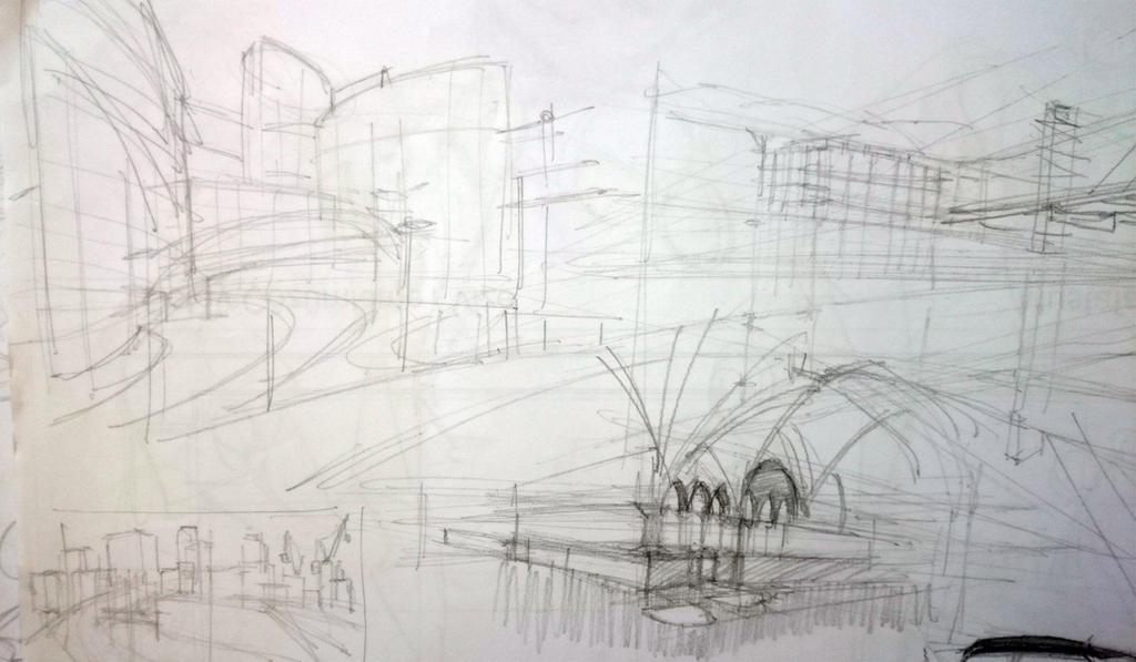 urban sketch by mistibasnapi