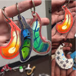 FEATHER KEYCHAIN COMMISSIONS OPEN! by Cant-Sleep-Love