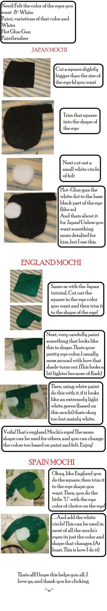 Plush Mochi Eye Tutorial :Felt and Paint by AreenErya on