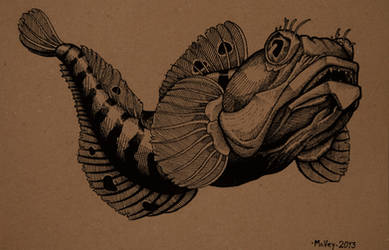 Sarcastic Fringhead by William-J-McVey