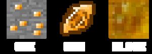 Minecraft Amber Ore texture (V1)