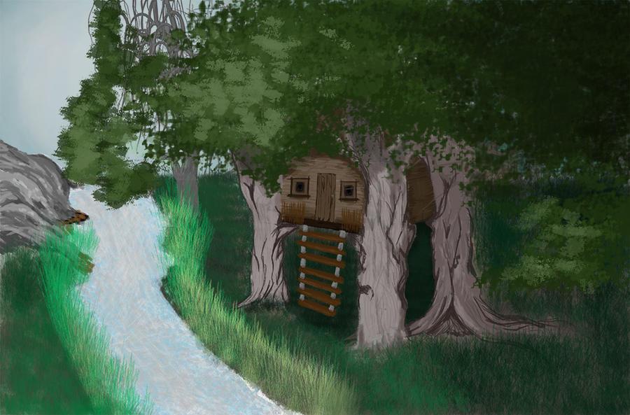 Tree-house village #1 by Krystal-J
