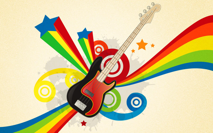 wallpaper vector. Guitar Vector Wallpaper by
