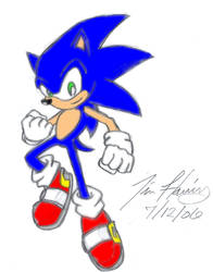 Sonic The Hedgehog In Color