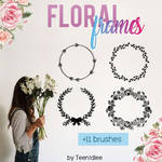 Floral Frame Brushes for Photoshop by TeenIdlee
