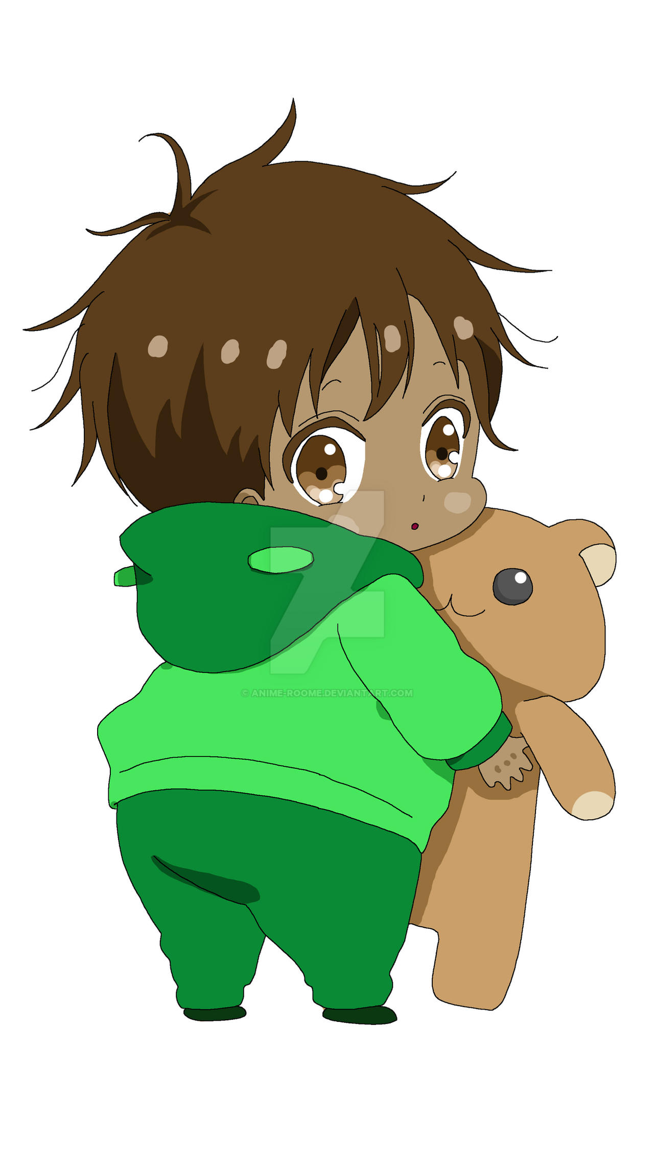 Baby Boy With Bear Mixed Race By Anime Roome On Deviantart