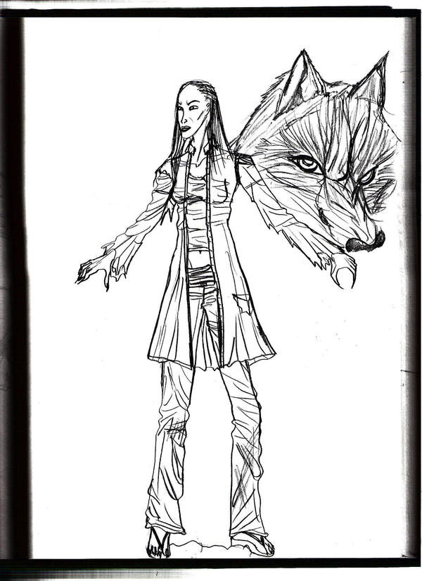Female Lycan by Selinelle