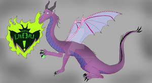 Descendants Mal as a dragon