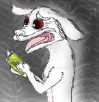 Teen Falkor reading Game of Thrones spoilers by Selinelle