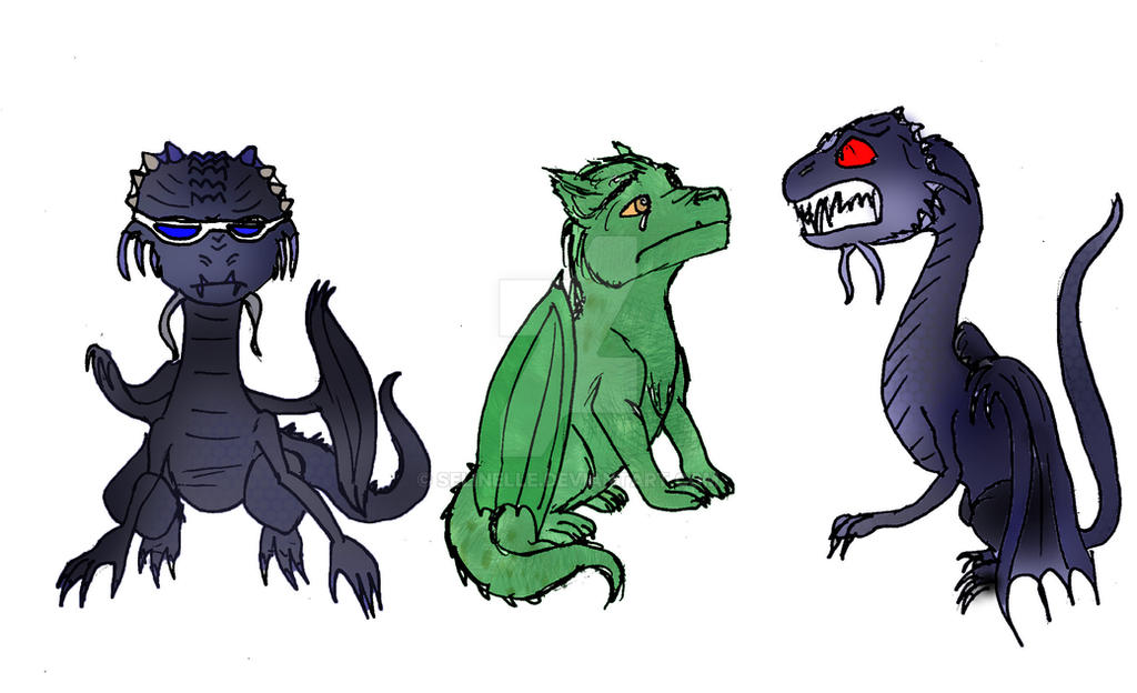 Cool Baby Jabberwocky doodles by Selinelle