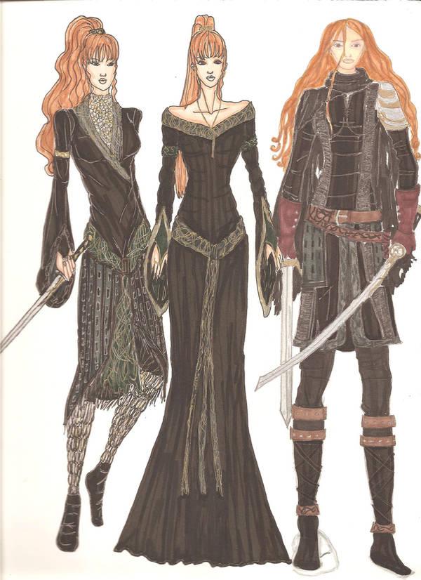 Deirdre costume designs by Selinelle