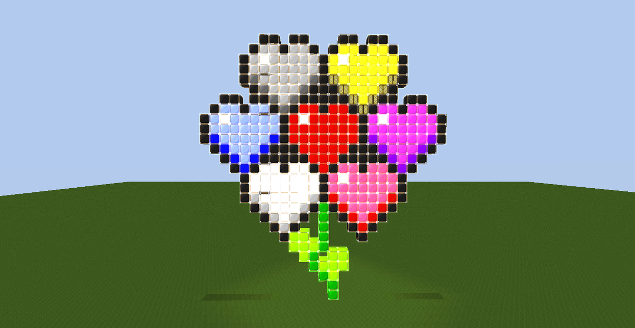 tekkit style heart flower pixel art by zacheron on deviantart. Black Bedroom Furniture Sets. Home Design Ideas